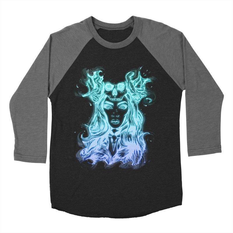 Blueglow Baby Men's Baseball Triblend T-Shirt by Allison Low Art