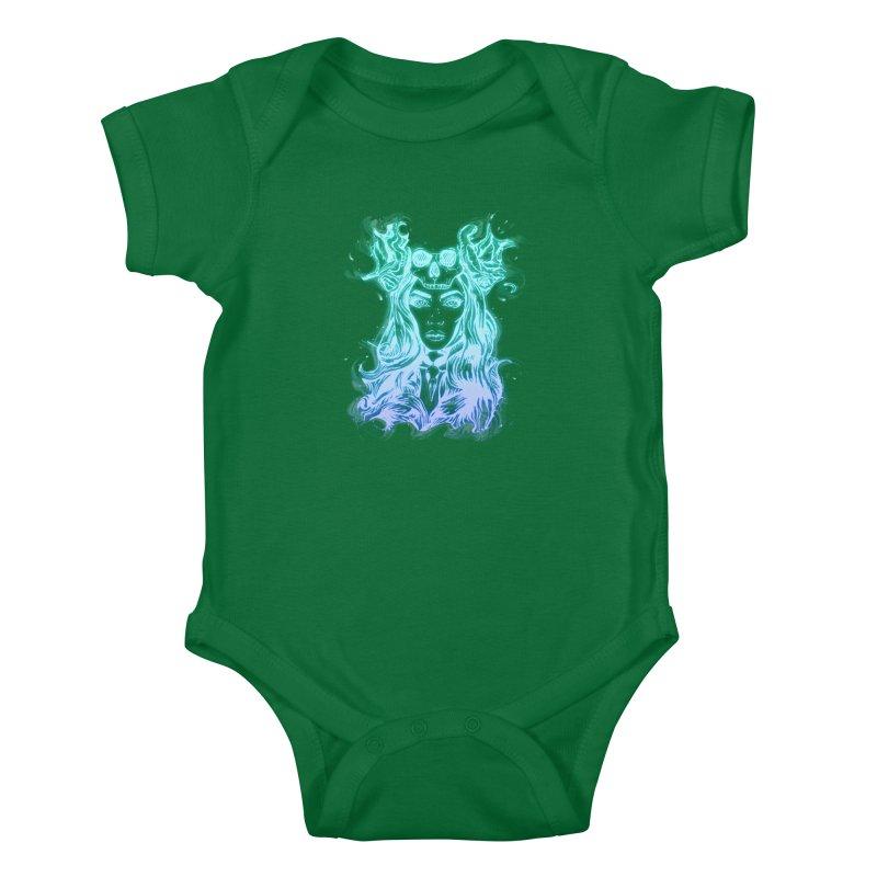 Blueglow Baby Kids Baby Bodysuit by Allison Low Art