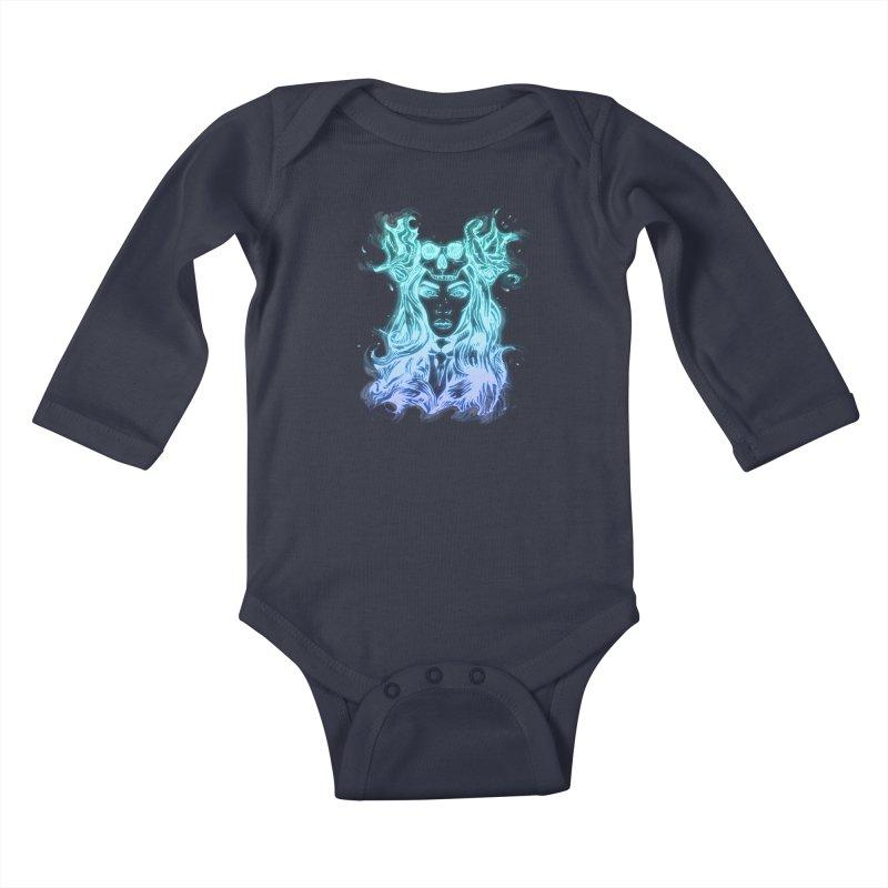 Blueglow Baby Kids Baby Longsleeve Bodysuit by Allison Low Art