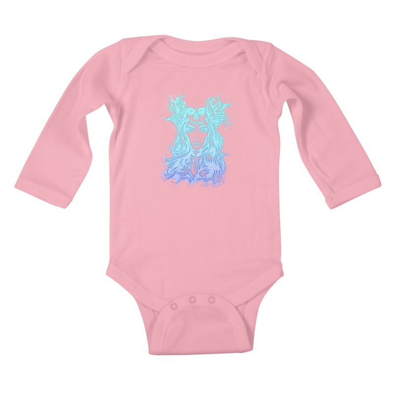 Blueglow Baby Kids Baby Longsleeve Bodysuit by Allison Low Art