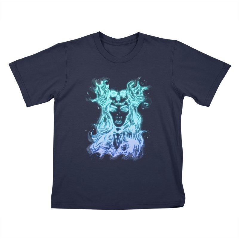 Blueglow Baby Kids T-Shirt by Allison Low Art