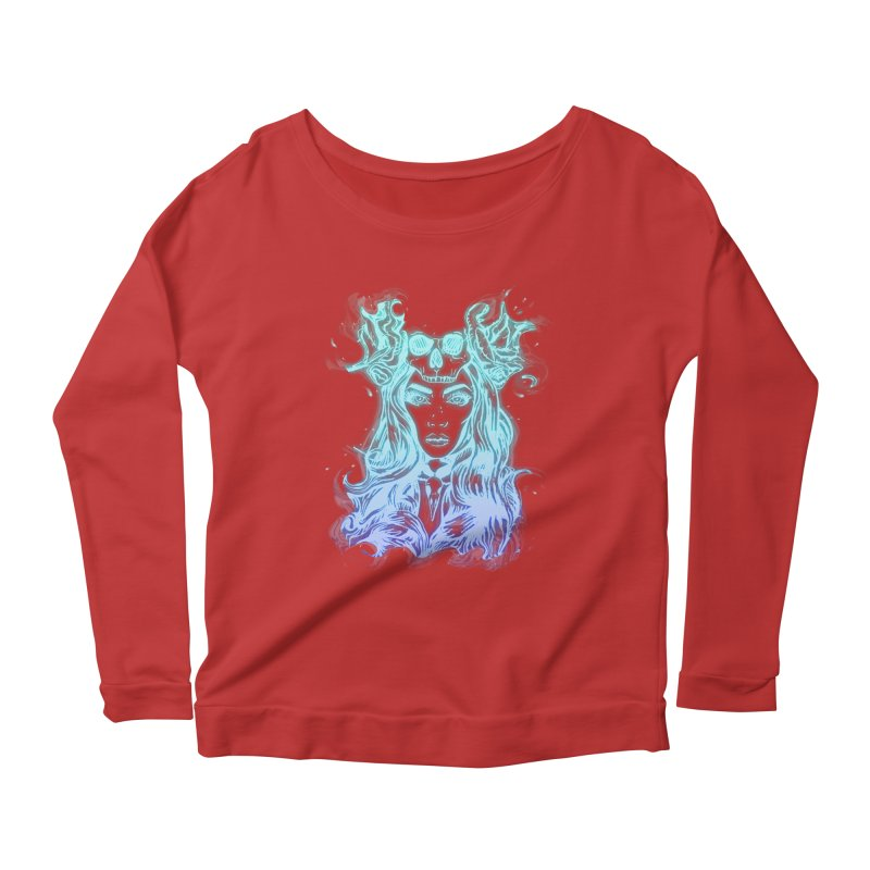 Blueglow Baby Women's Longsleeve Scoopneck  by Allison Low Art