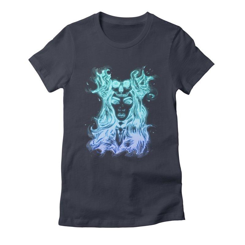 Blueglow Baby Women's Fitted T-Shirt by Allison Low Art