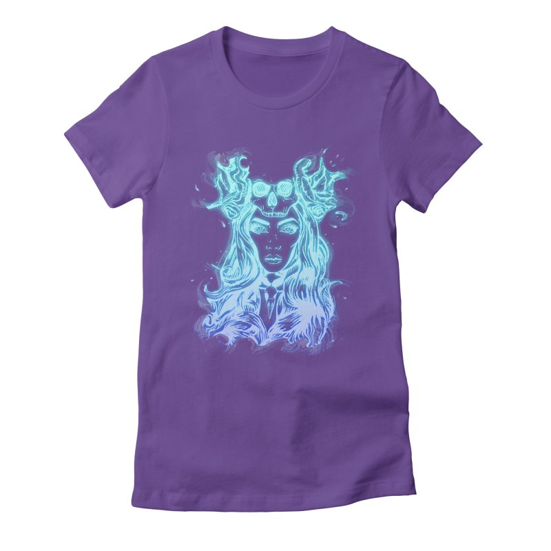 Blueglow Baby Women's Fitted T-Shirt by Allison Low Art