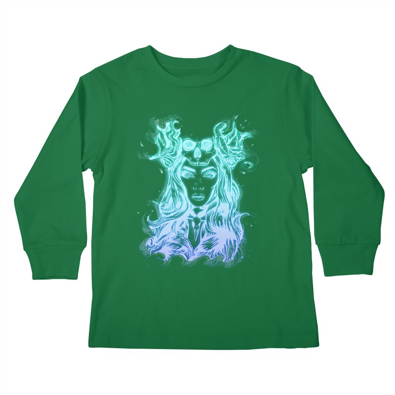 Blueglow Baby Kids Longsleeve T-Shirt by Allison Low Art