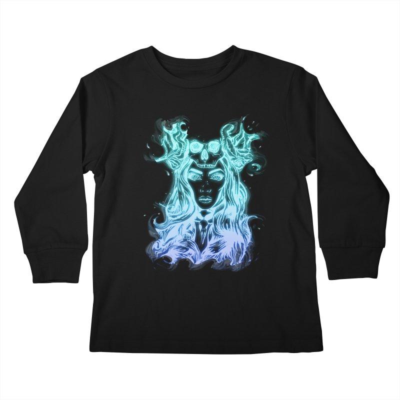 Blueglow Baby Kids Longsleeve T-Shirt by Allison Low Art