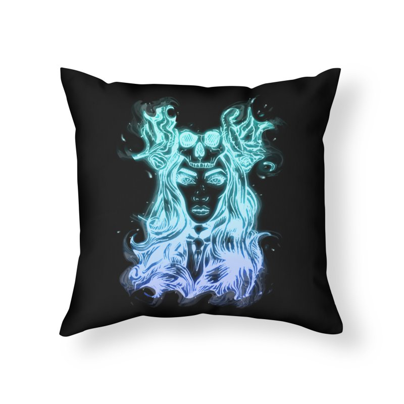 Blueglow Baby Home Throw Pillow by Allison Low Art