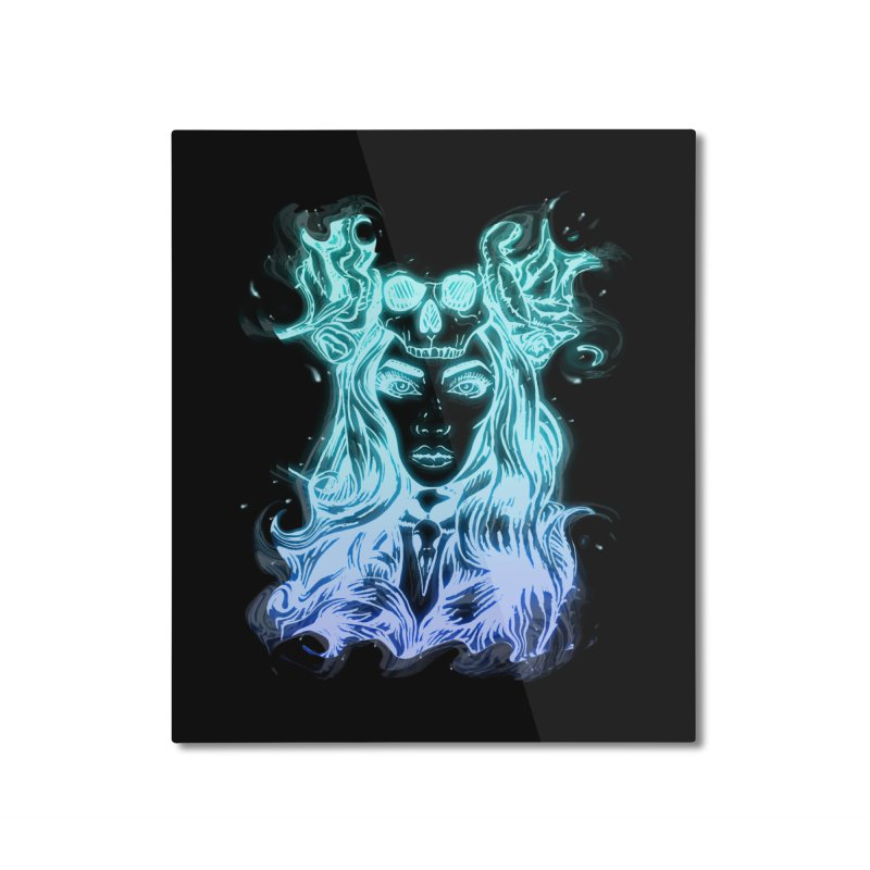 Blueglow Baby Home Mounted Aluminum Print by Allison Low Art