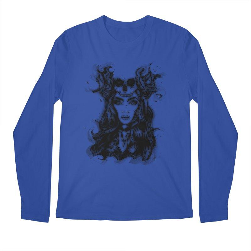 Skull Girl Men's Regular Longsleeve T-Shirt by Allison Low Art