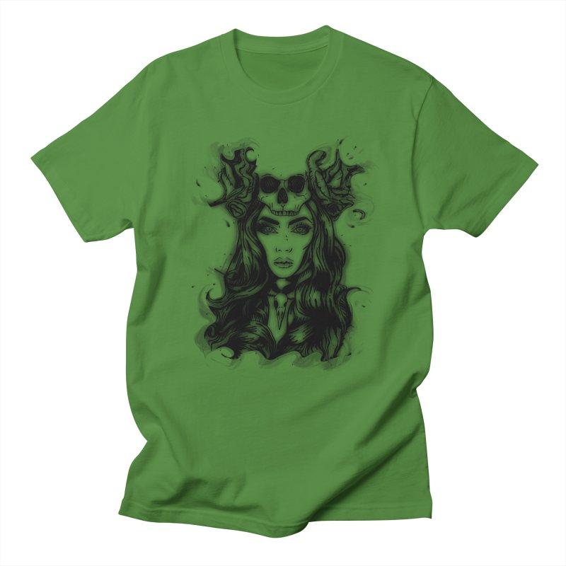 Skull Girl Men's T-Shirt by Allison Low Art