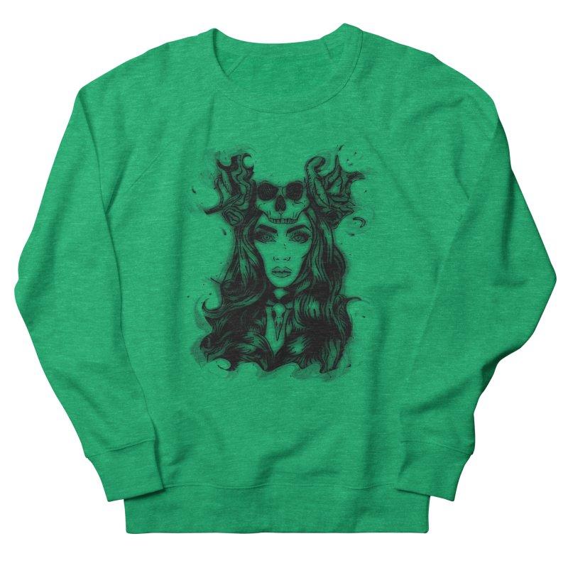 Skull Girl Women's French Terry Sweatshirt by Allison Low Art