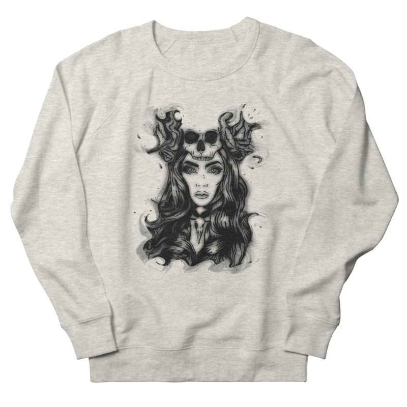 Skull Girl Men's French Terry Sweatshirt by Allison Low Art