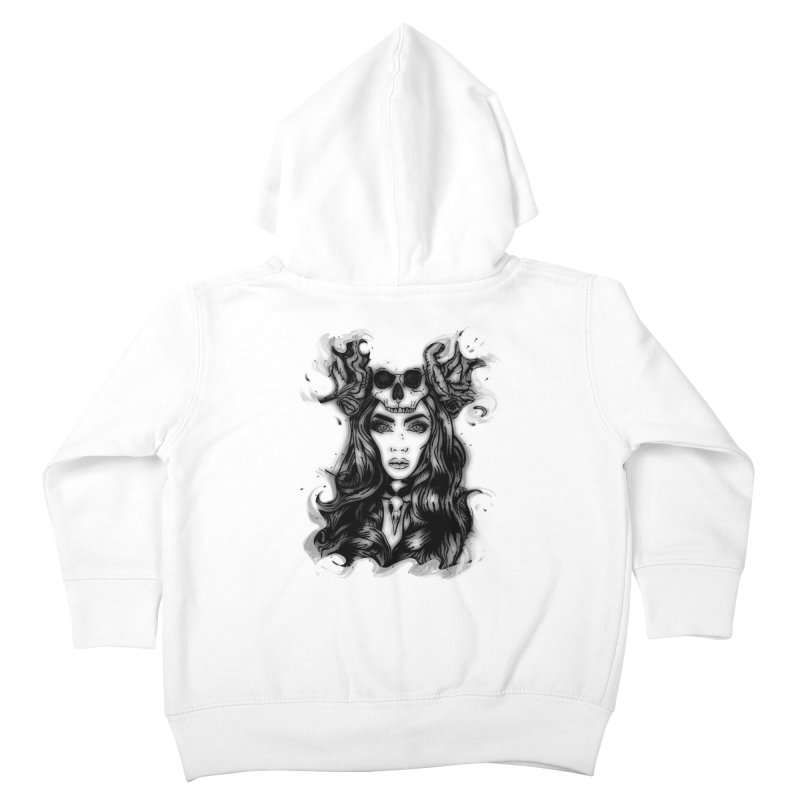 Skull Girl Kids Toddler Zip-Up Hoody by Allison Low Art