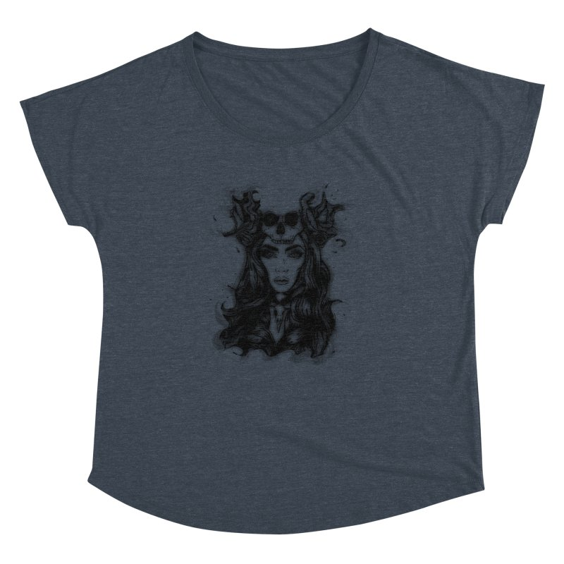 Skull Girl Women's Dolman by Allison Low Art