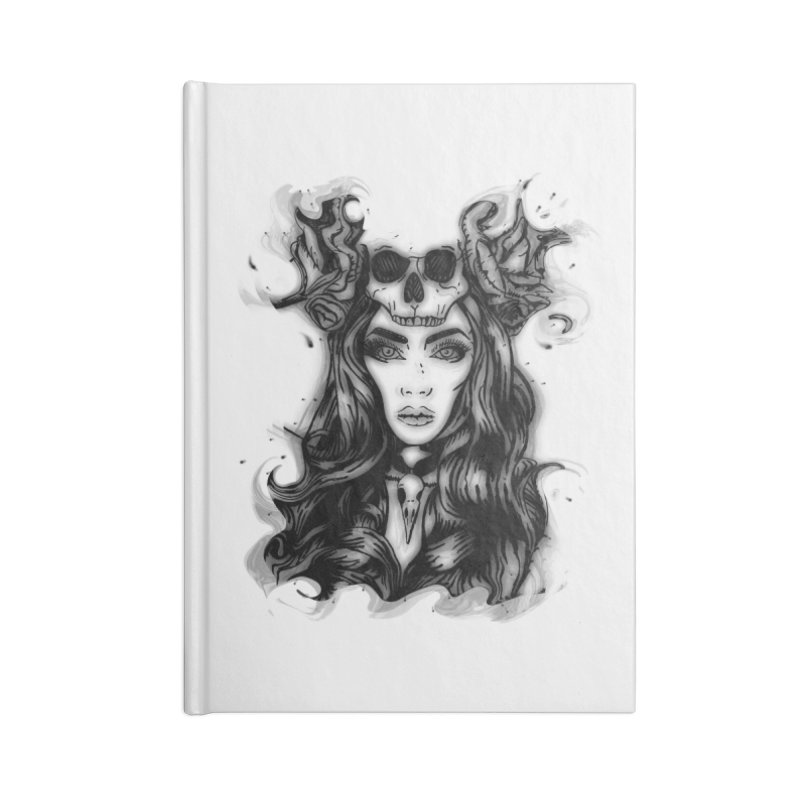 Skull Girl Accessories Notebook by Allison Low Art