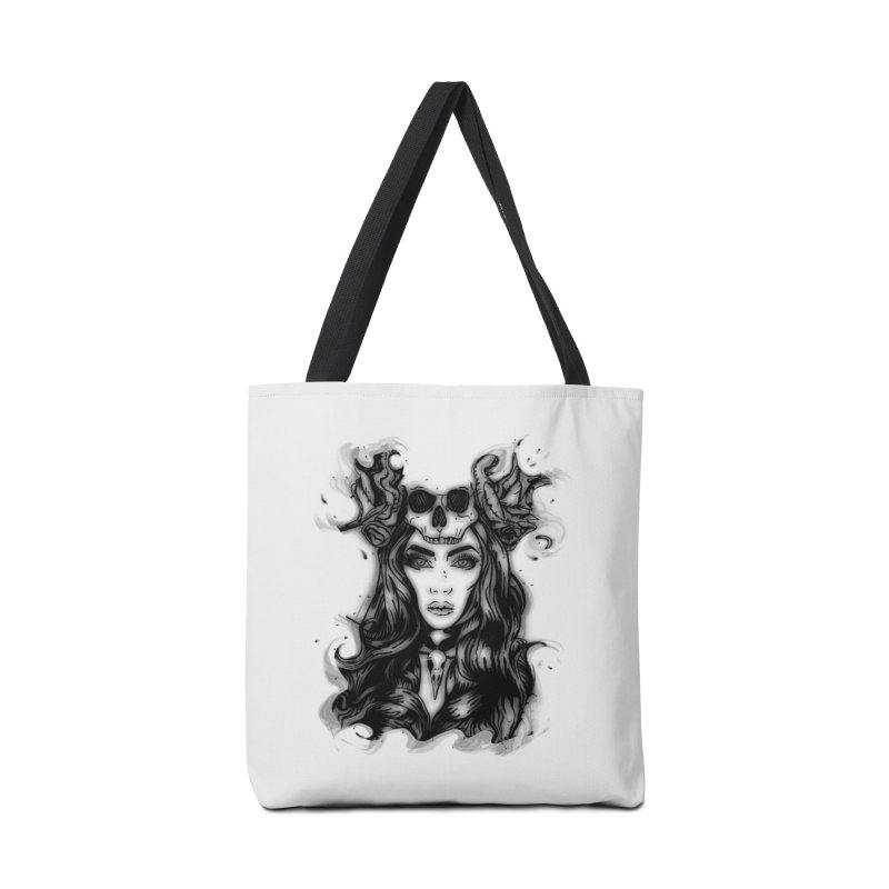 Skull Girl Accessories Bag by Allison Low Art
