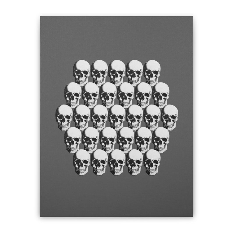 Skull Home Stretched Canvas by Allison Low Art