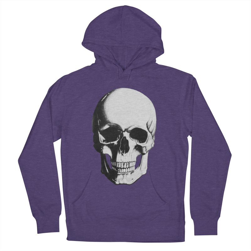 Skull Women's French Terry Pullover Hoody by Allison Low Art