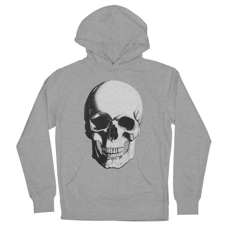 Skull Men's French Terry Pullover Hoody by Allison Low Art