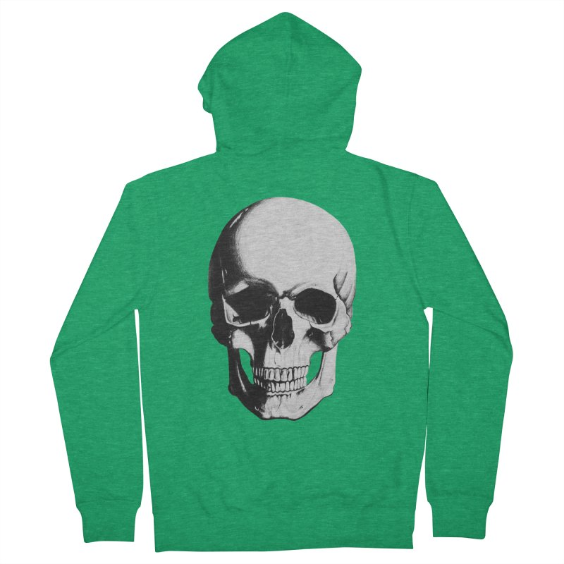 Skull Women's French Terry Zip-Up Hoody by Allison Low Art