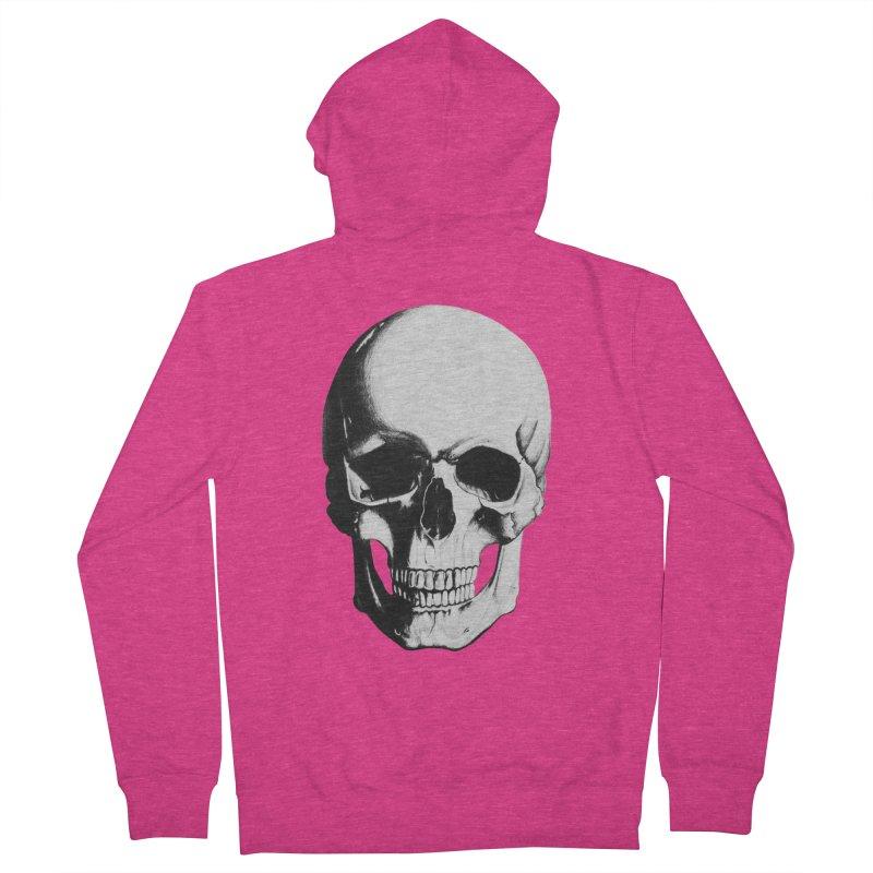 Skull Women's Zip-Up Hoody by Allison Low Art
