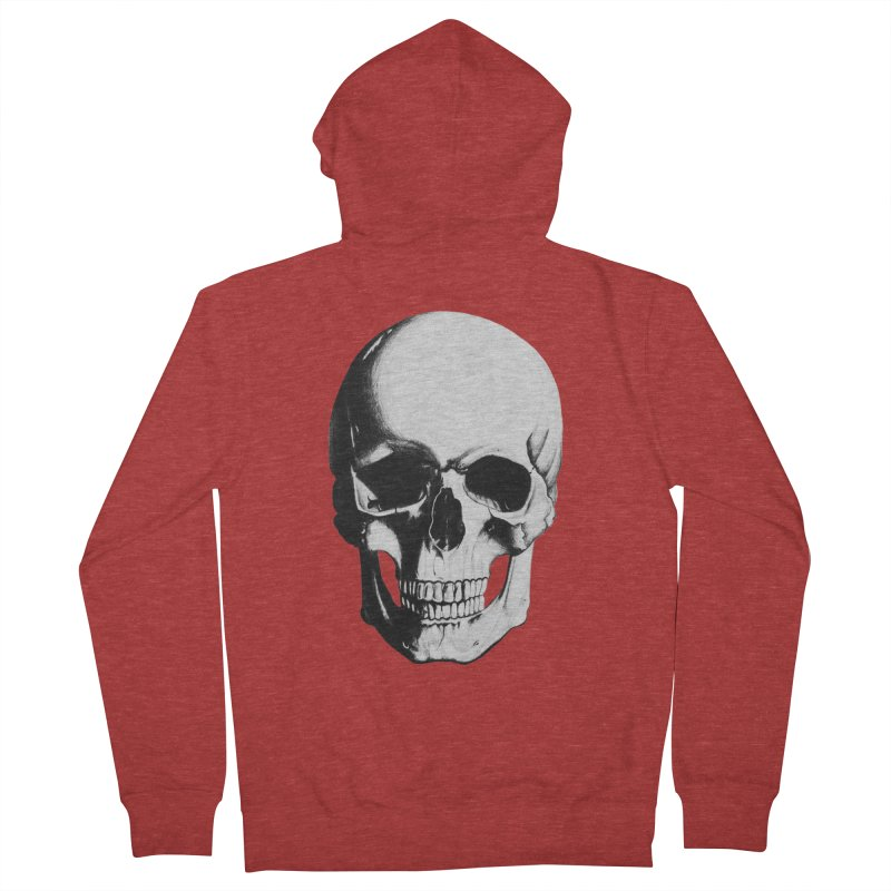 Skull Men's Zip-Up Hoody by Allison Low Art