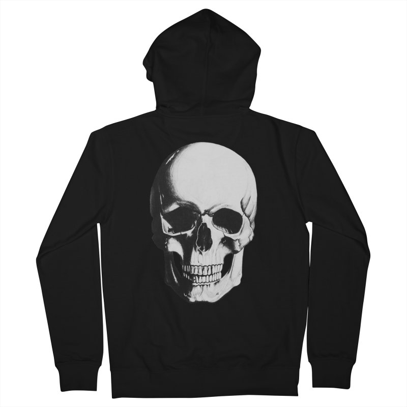 Skull Men's Zip-Up Hoody by Allison Low Art
