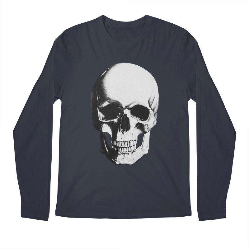 Skull Men's Regular Longsleeve T-Shirt by Allison Low Art