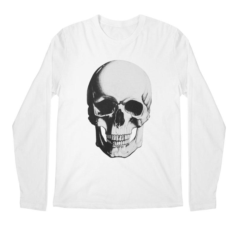 Skull Men's Regular Longsleeve T-Shirt by Allison Low Art