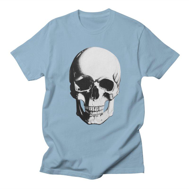 Skull Men's Regular T-Shirt by Allison Low Art