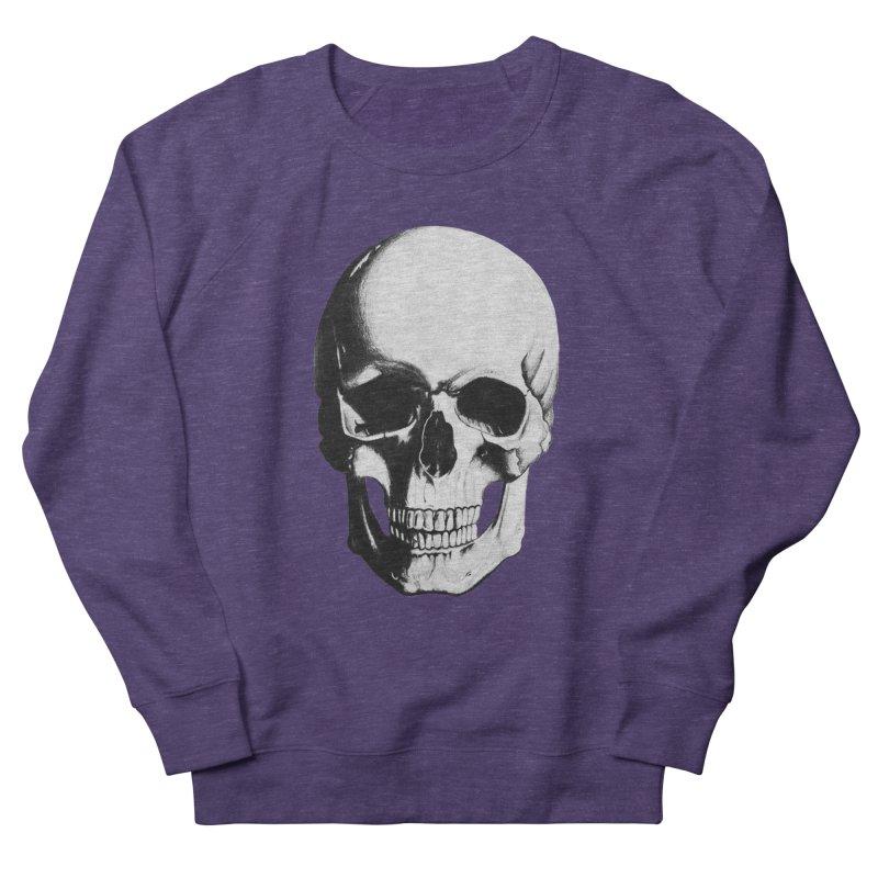 Skull Women's French Terry Sweatshirt by Allison Low Art