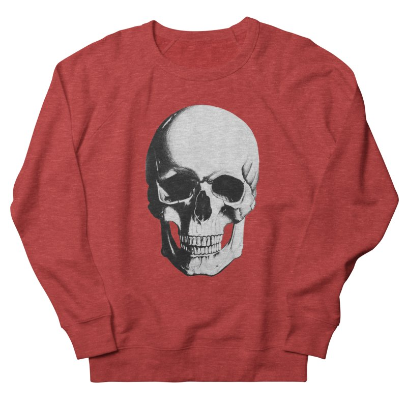 Skull Women's French Terry Sweatshirt by Allison Low Art