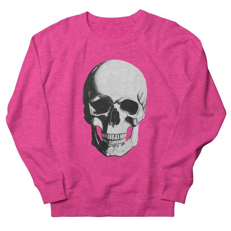 Skull Men's French Terry Sweatshirt by Allison Low Art