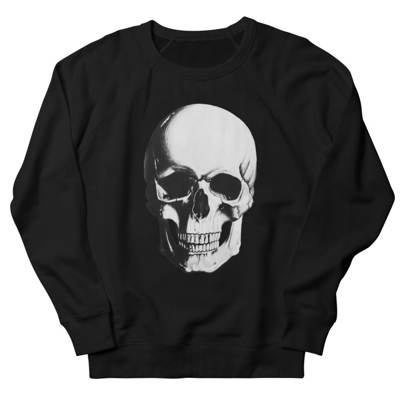 Skull Men's French Terry Sweatshirt by Allison Low Art