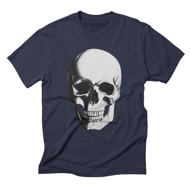 Skull Men's Triblend T-Shirt by Allison Low Art