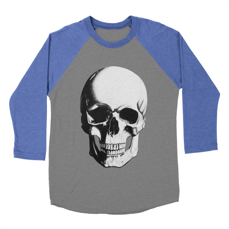 Skull Women's Baseball Triblend T-Shirt by Allison Low Art