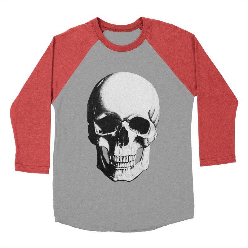 Skull Women's Baseball Triblend T-Shirt by Allison Low Art