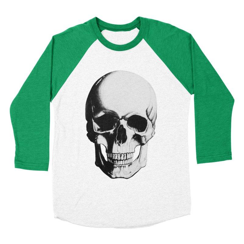 Skull Men's Baseball Triblend T-Shirt by Allison Low Art