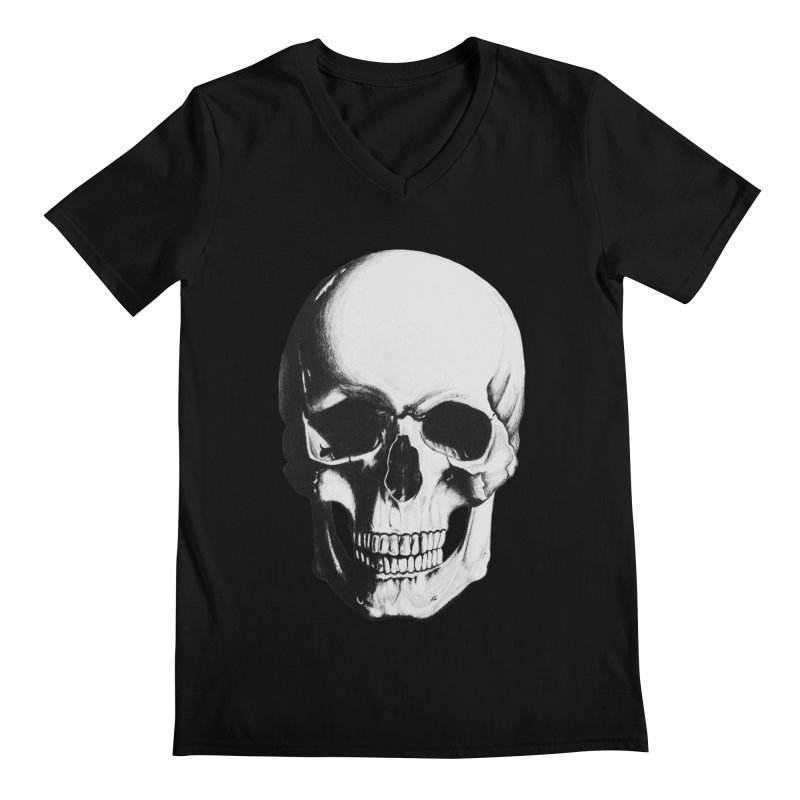 Skull Men's Regular V-Neck by Allison Low Art