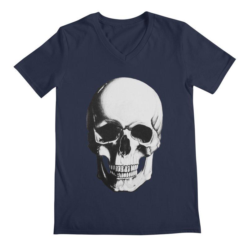 Skull Men's Regular V-Neck by Allison Low Art