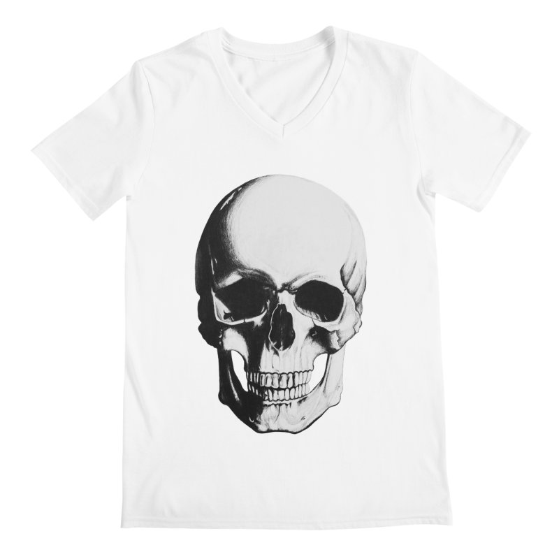 Skull Men's V-Neck by Allison Low Art