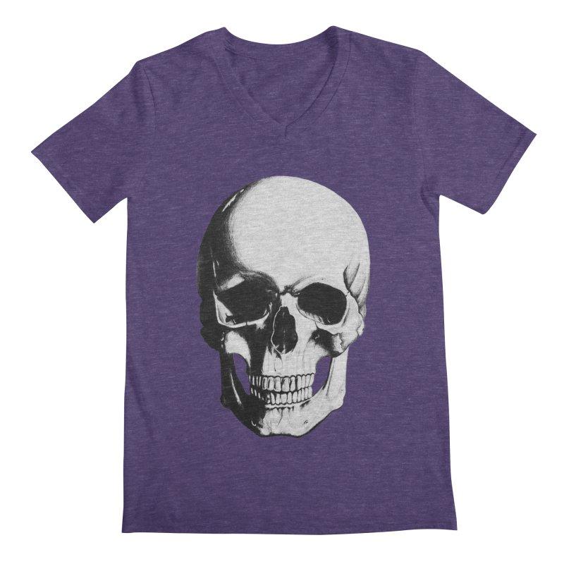 Skull Men's V-Neck by Allison Low Art