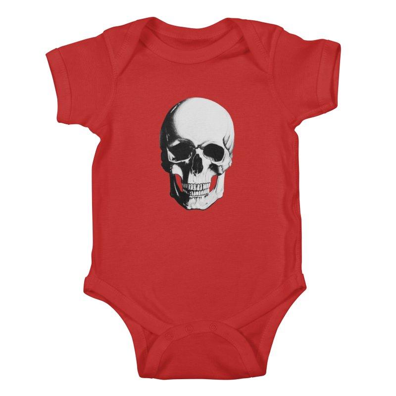Skull Kids Baby Bodysuit by Allison Low Art