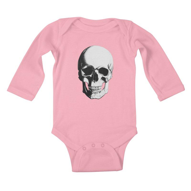 Skull Kids Baby Longsleeve Bodysuit by Allison Low Art