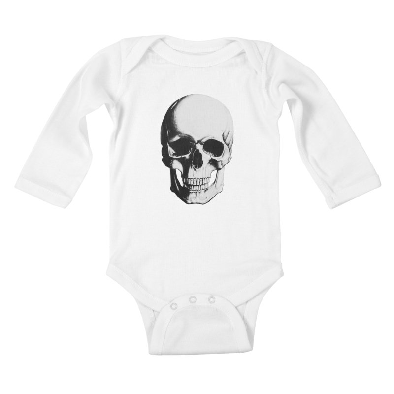 Skull Kids Baby Longsleeve Bodysuit by Allison Low Art