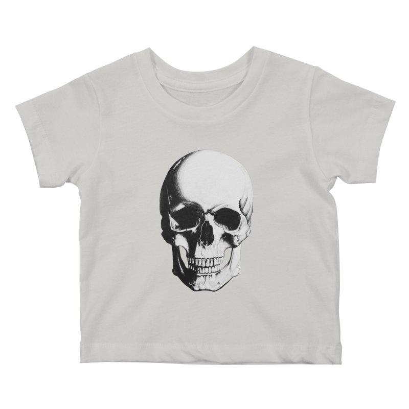 Skull Kids Baby T-Shirt by Allison Low Art