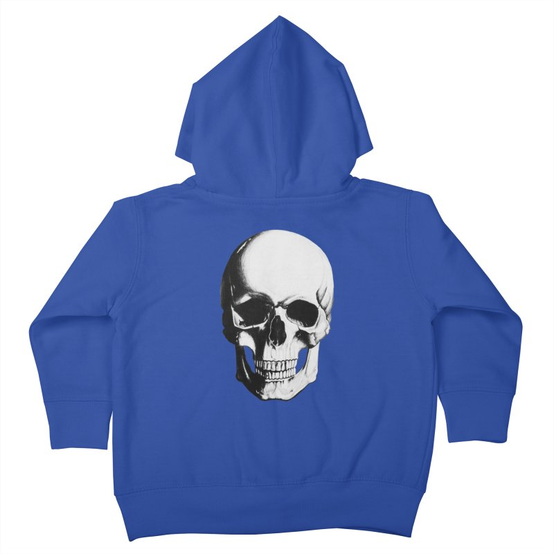 Skull Kids Toddler Zip-Up Hoody by Allison Low Art