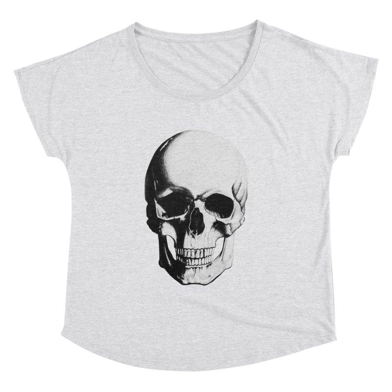 Skull Women's Dolman Scoop Neck by Allison Low Art
