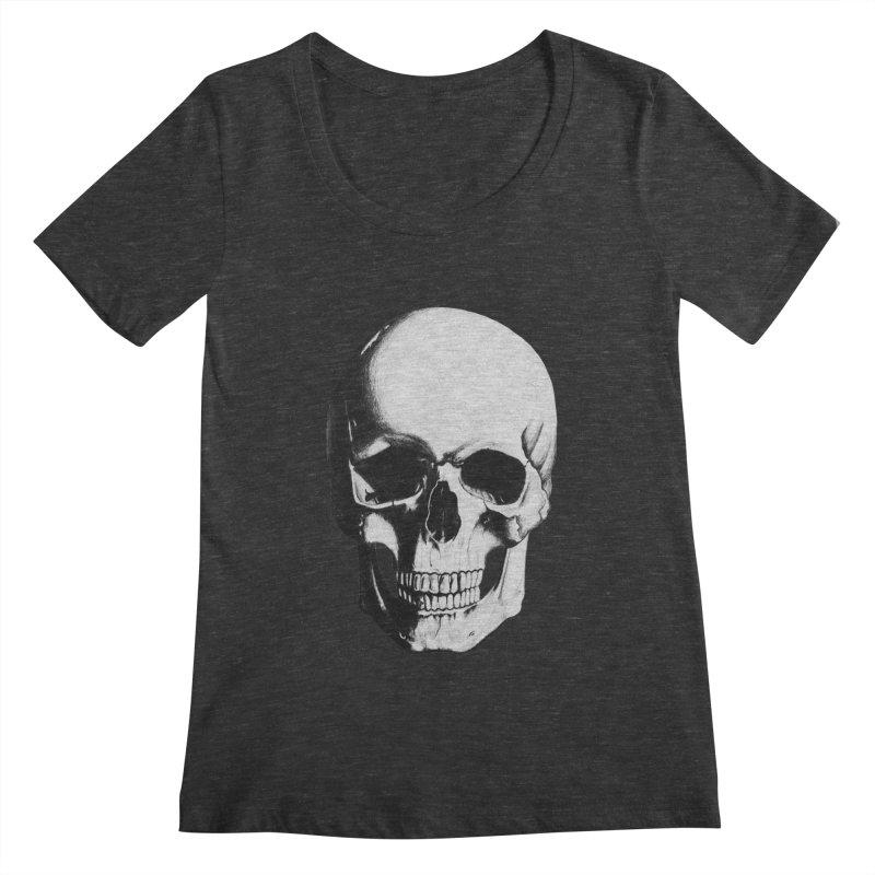 Skull Women's Scoopneck by Allison Low Art