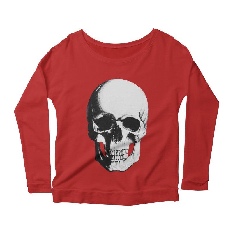 Skull Women's Longsleeve Scoopneck  by Allison Low Art